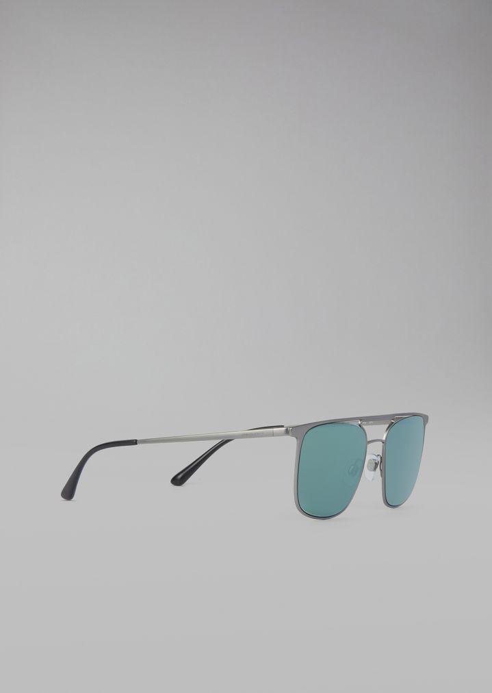 Sunglasses with metal frame | Man | Giorgio Armani