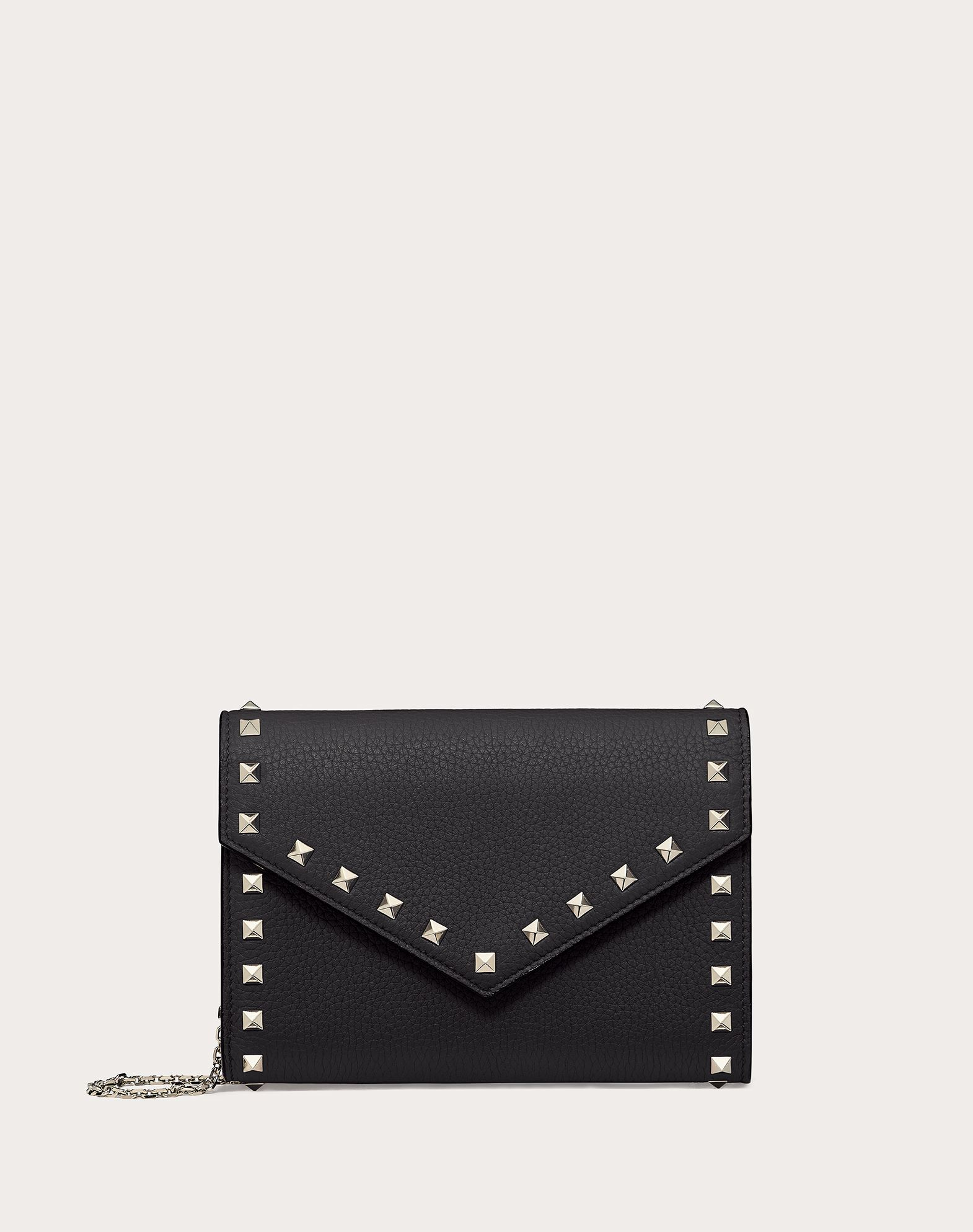 VALENTINO GARAVANI Rockstud Wallet with chain CHAIN WALLETS D f