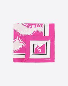 """VALENTINO SETA Foulard D Silk twill foulard 90x90 cm / 35.4x35.4"""" f"""