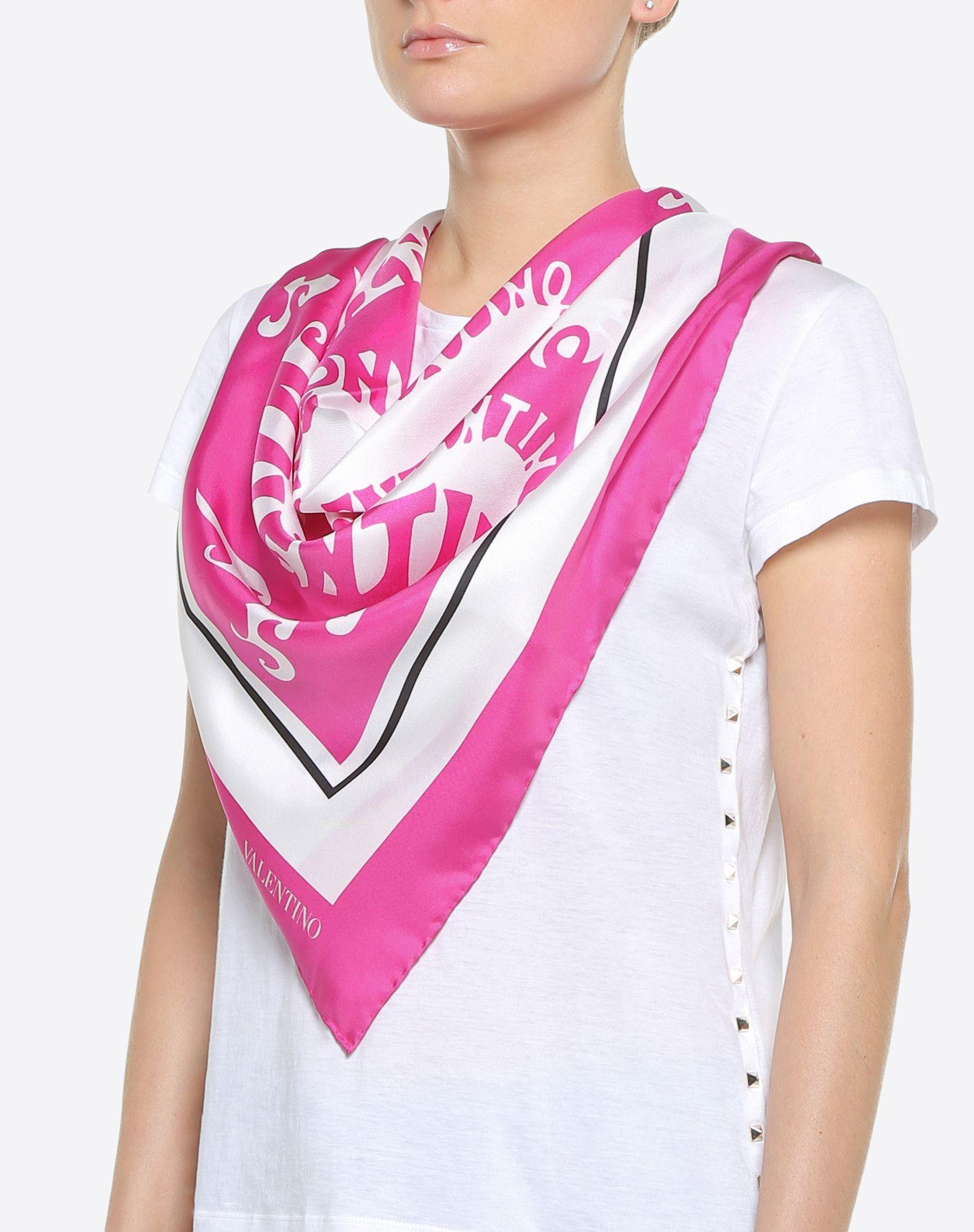 """VALENTINO SETA Silk twill foulard 90x90 cm / 35.4x35.4"""" Foulard D d"""