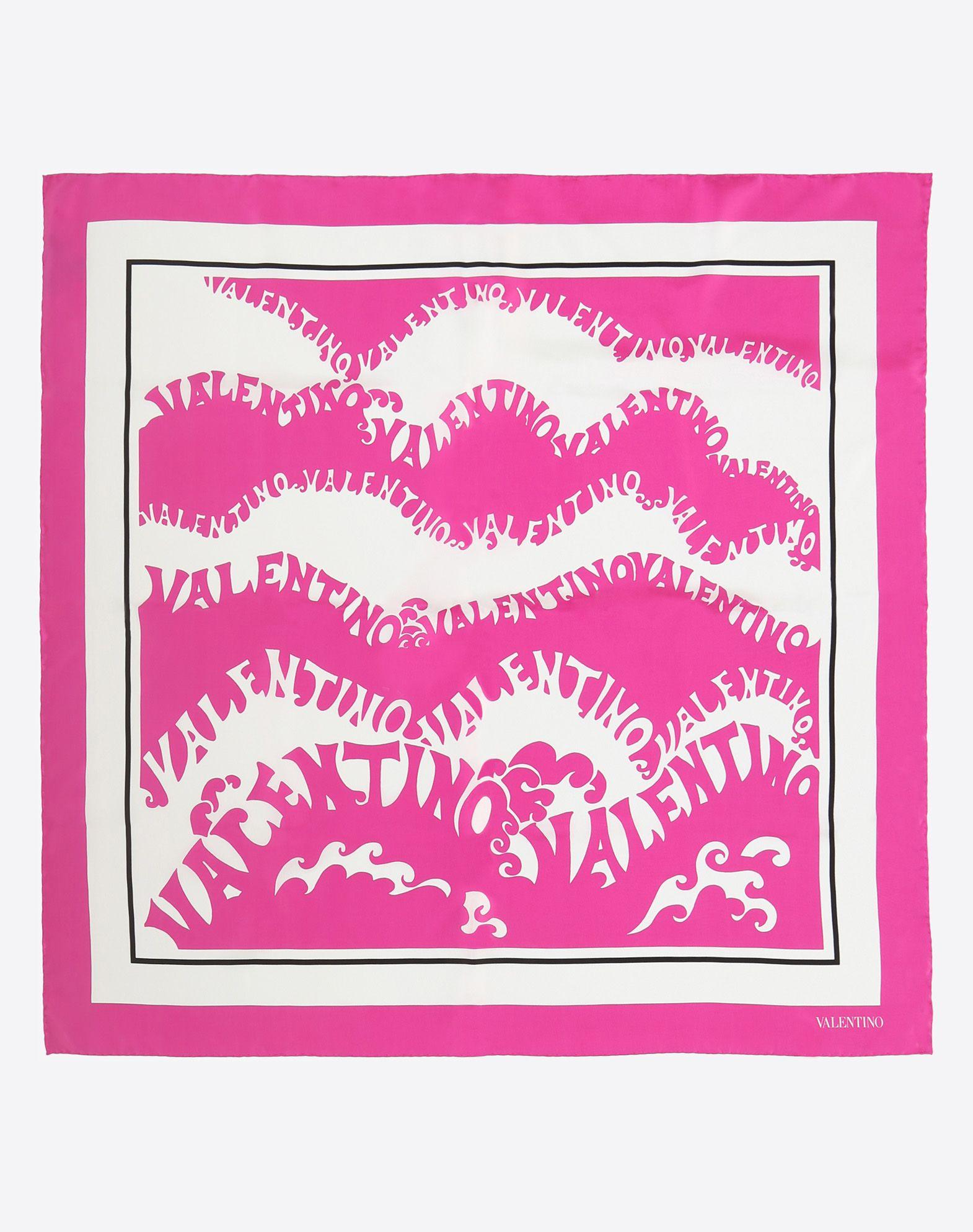 """VALENTINO SETA Silk twill foulard 90x90 cm / 35.4x35.4"""" Foulard D r"""