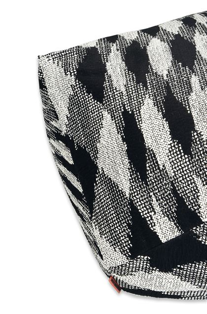 MISSONI HOME VISBY  DIAMANTE POUF Black E - Front