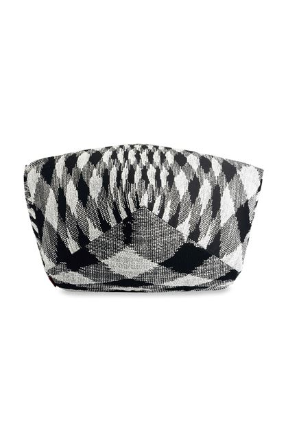 MISSONI HOME VISBY  DIAMANTE POUF Black E - Back