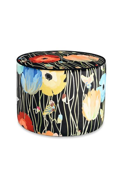 MISSONI HOME VANCOUVER CYLINDER POUF Black E - Back
