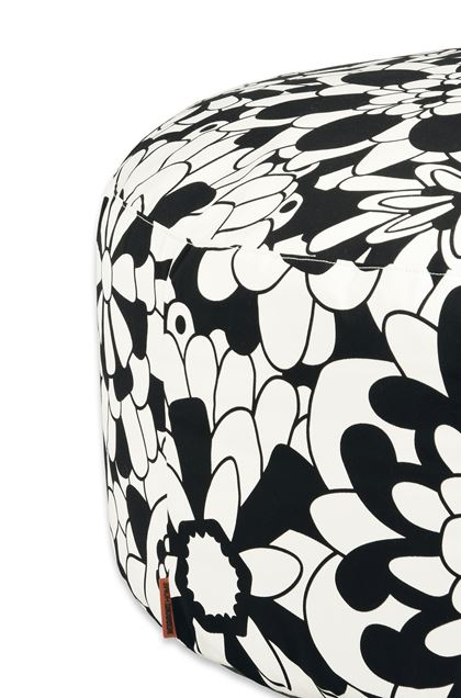 MISSONI HOME Ball POUF CIRC.80X35 Black E - Front