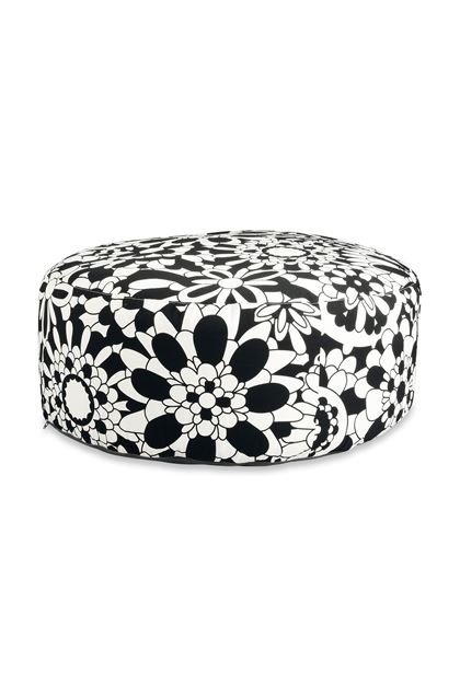 MISSONI HOME Ball POUF CIRC.80X35 Black E - Back