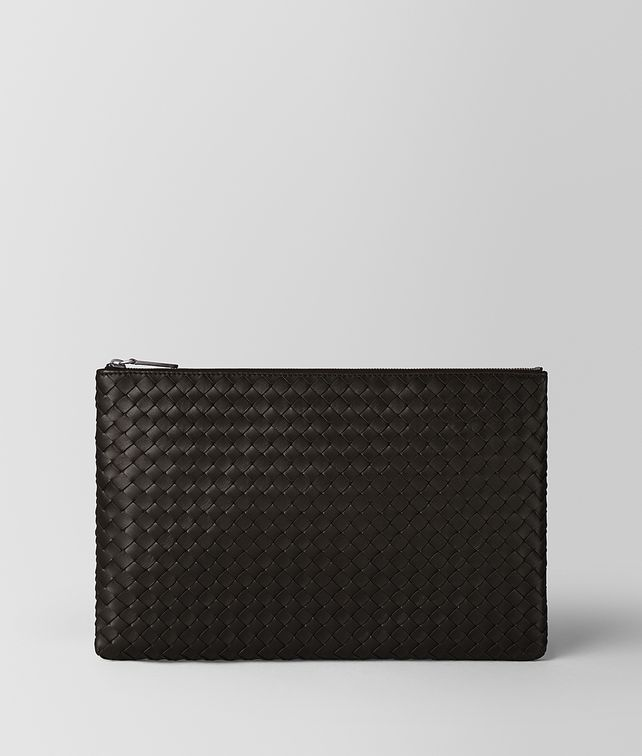BOTTEGA VENETA LARGE DOCUMENT CASE IN ESPRESSO INTRECCIATO NAPPA  Other Leather Accessory Woman fp