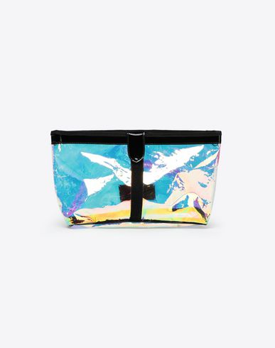 MAISON MARGIELA Clutch Woman Hologram large pouch bag f