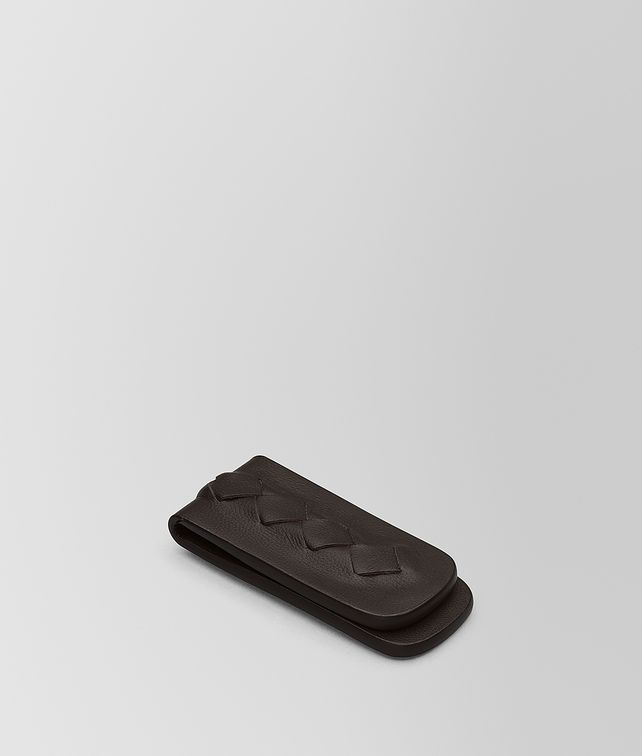 BOTTEGA VENETA MONEY CLIP IN ESPRESSO INTRECCIATO NAPPA Other Accessories E fp