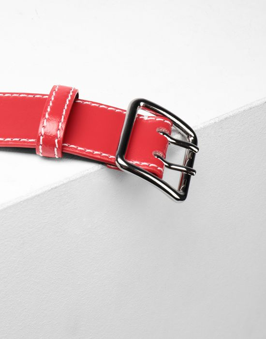 MM6 MAISON MARGIELA Embroidered leather buckled belt Belt [*** pickupInStoreShipping_info ***] d