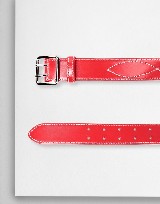 MM6 MAISON MARGIELA Embroidered leather buckled belt Belt [*** pickupInStoreShipping_info ***] r