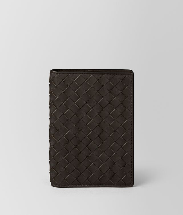 BOTTEGA VENETA PASSPORT CASE IN ESPRESSO INTRECCIATO NAPPA  Other Leather Accessory Woman fp