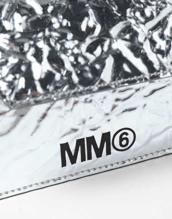 MM6 MAISON MARGIELA Silver crinkled leather cardholder wallet Wallet [*** pickupInStoreShipping_info ***] e