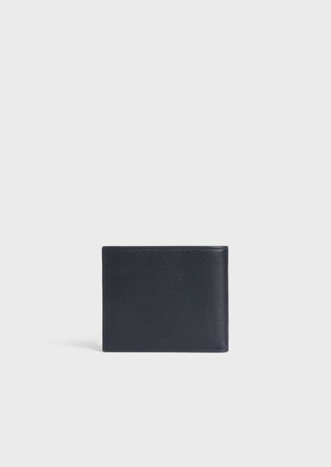 Wallet in hammered calfskin