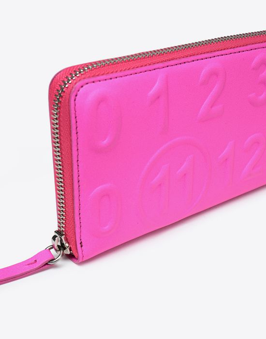 MAISON MARGIELA Embossed fluorescent leather wallet Wallet [*** pickupInStoreShipping_info ***] a