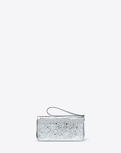 MM6 MAISON MARGIELA Silver crinkled leather wallet Wallet [*** pickupInStoreShipping_info ***] f