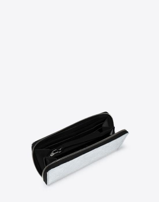 MM6 MAISON MARGIELA Silver crinkled leather wallet Wallet [*** pickupInStoreShipping_info ***] d