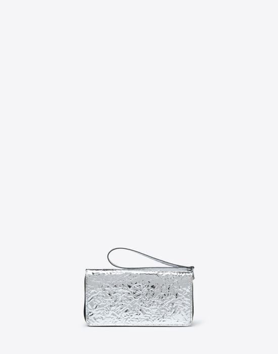MM6 MAISON MARGIELA Silver crinkled leather wallet Wallet [*** pickupInStoreShipping_info ***] f