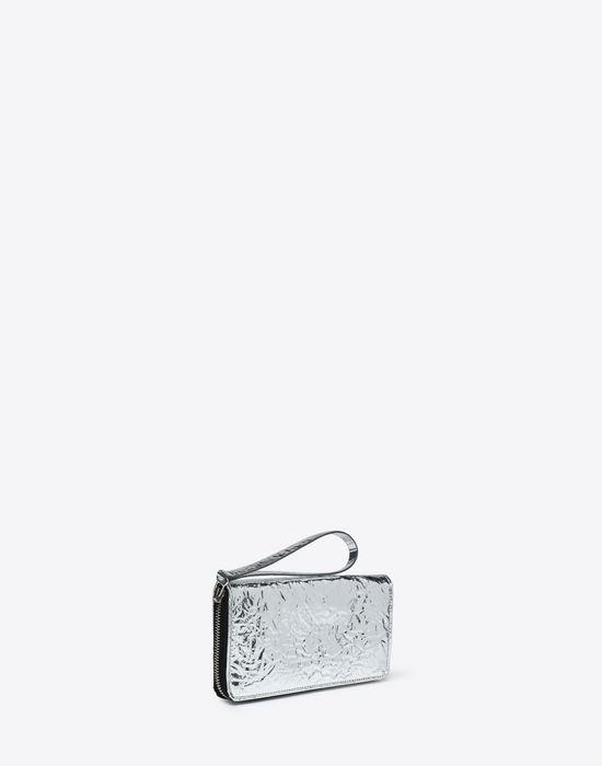 MM6 MAISON MARGIELA Silver crinkled leather wallet Wallet [*** pickupInStoreShipping_info ***] r