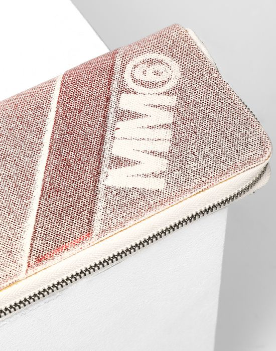 MM6 MAISON MARGIELA Leather and canvas wallet Wallet [*** pickupInStoreShipping_info ***] e