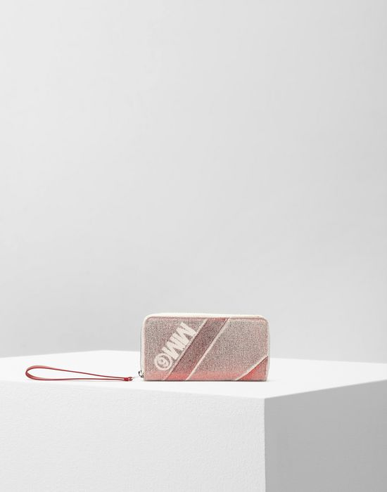 MM6 MAISON MARGIELA Leather and canvas wallet Wallet [*** pickupInStoreShipping_info ***] f
