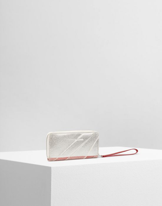 MM6 MAISON MARGIELA Leather and canvas wallet Wallet [*** pickupInStoreShipping_info ***] r