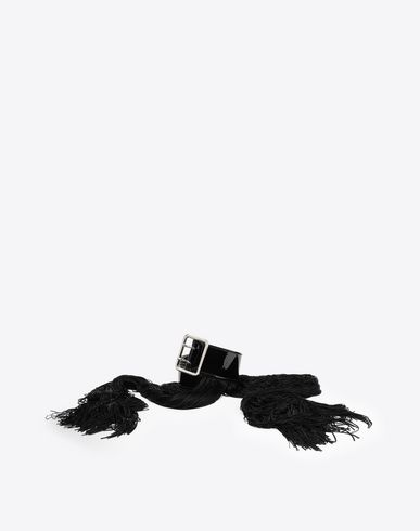 MM6 MAISON MARGIELA Belt Woman Shiny black hardware belt f
