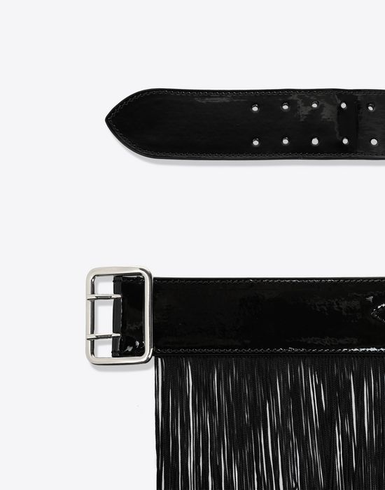 MM6 MAISON MARGIELA Shiny black hardware belt Belt [*** pickupInStoreShipping_info ***] r