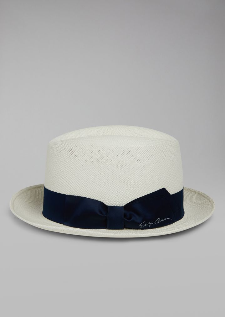 4cbae8a3898 Straw fedora hat with satin bow