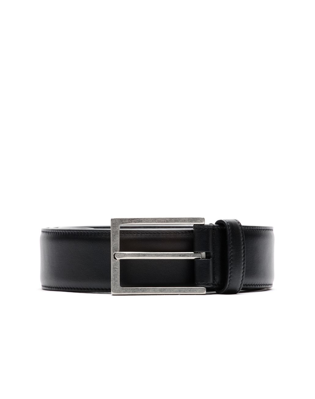 BRIONI Black Calfskin Belt Ceinture [*** pickupInStoreShippingNotGuaranteed_info ***] r