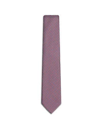 Bluette and Red Micro Design Tie