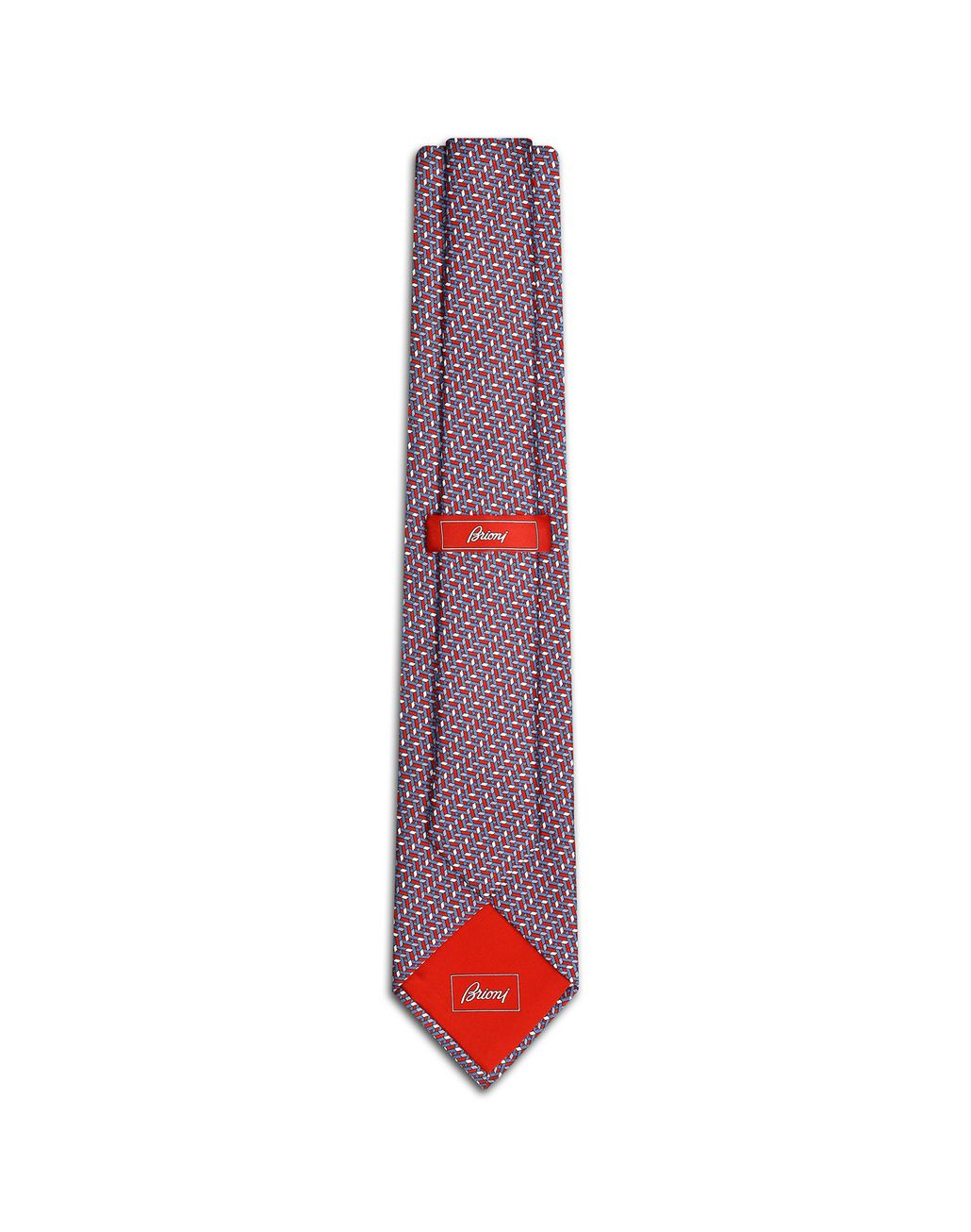 BRIONI Bluette and Red Micro Design Tie Tie Man r