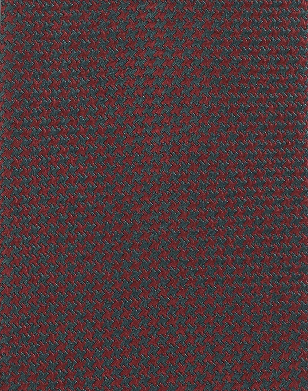 BRIONI Bordeaux and Teal Micro Houndstooth Tie Tie Man d