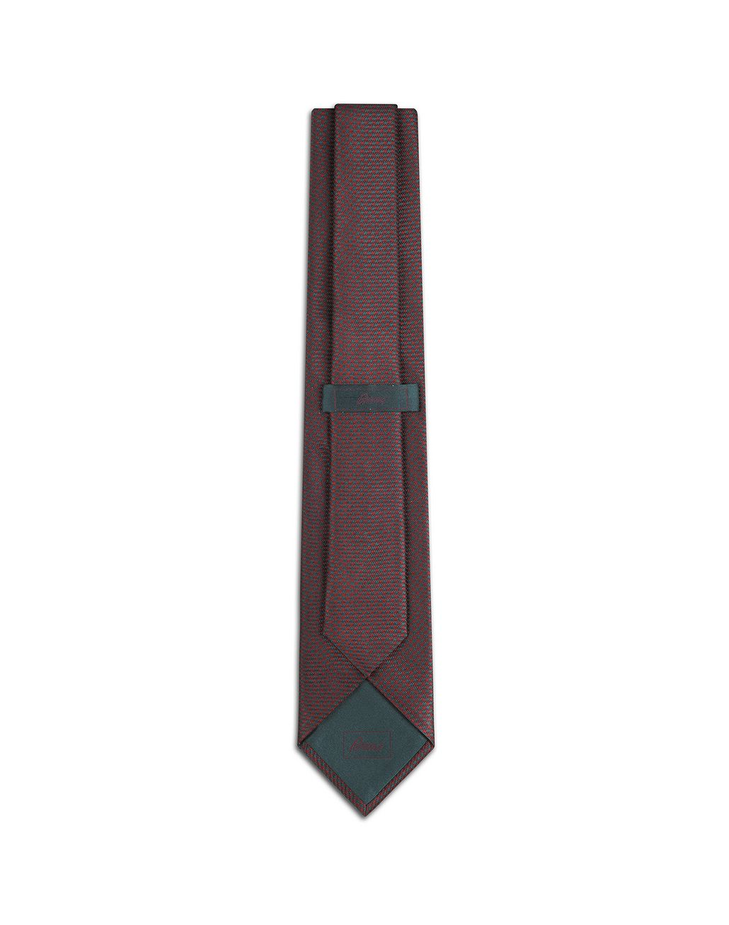 BRIONI Bordeaux and Teal Micro Houndstooth Tie Tie Man r