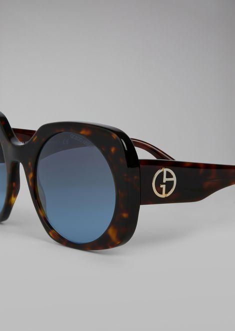 Tortoiseshell  sunglasses with logo detail