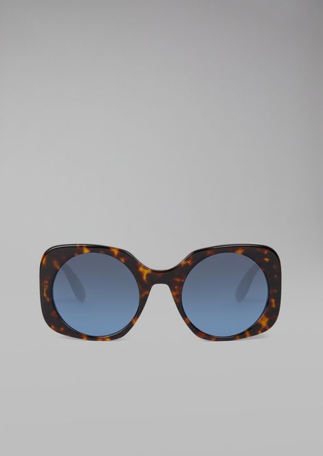 Tortoiseshell  sunglasses with logo detail