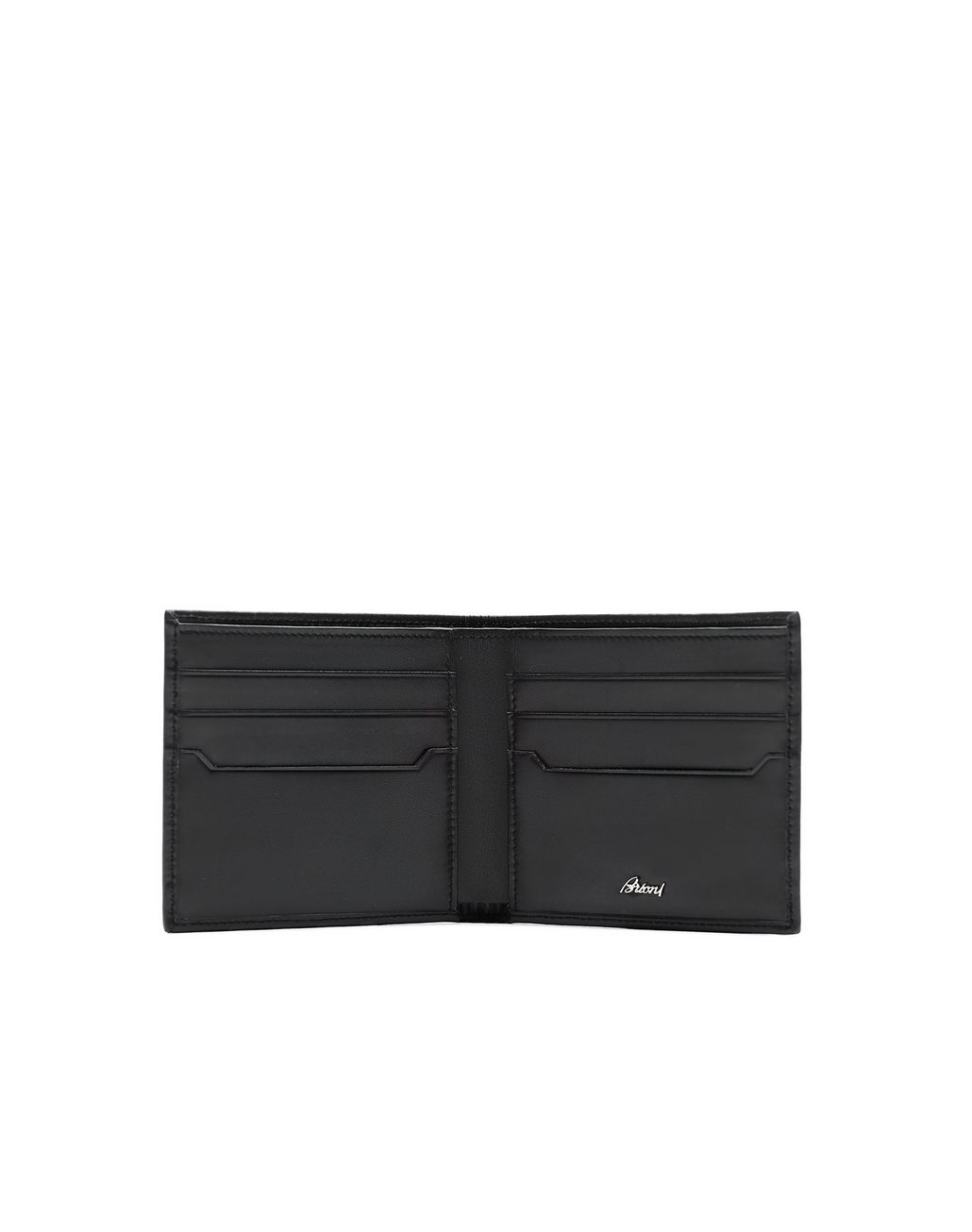 BRIONI Black Calfskin Wallet Wallet Man r