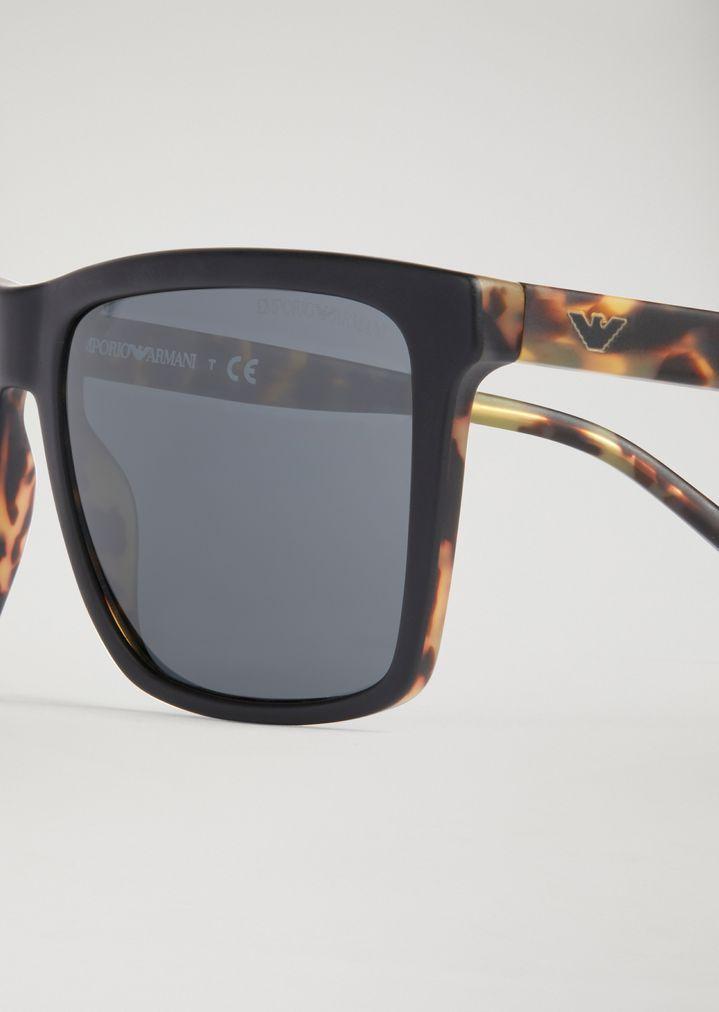 EMPORIO ARMANI Sunglasses with tortoiseshell temples Sunglasses Man d