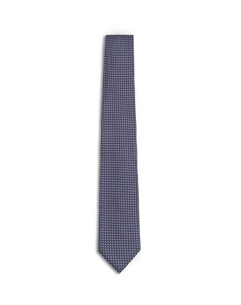 Dark Purple and Navy Blue Micro Design Tie