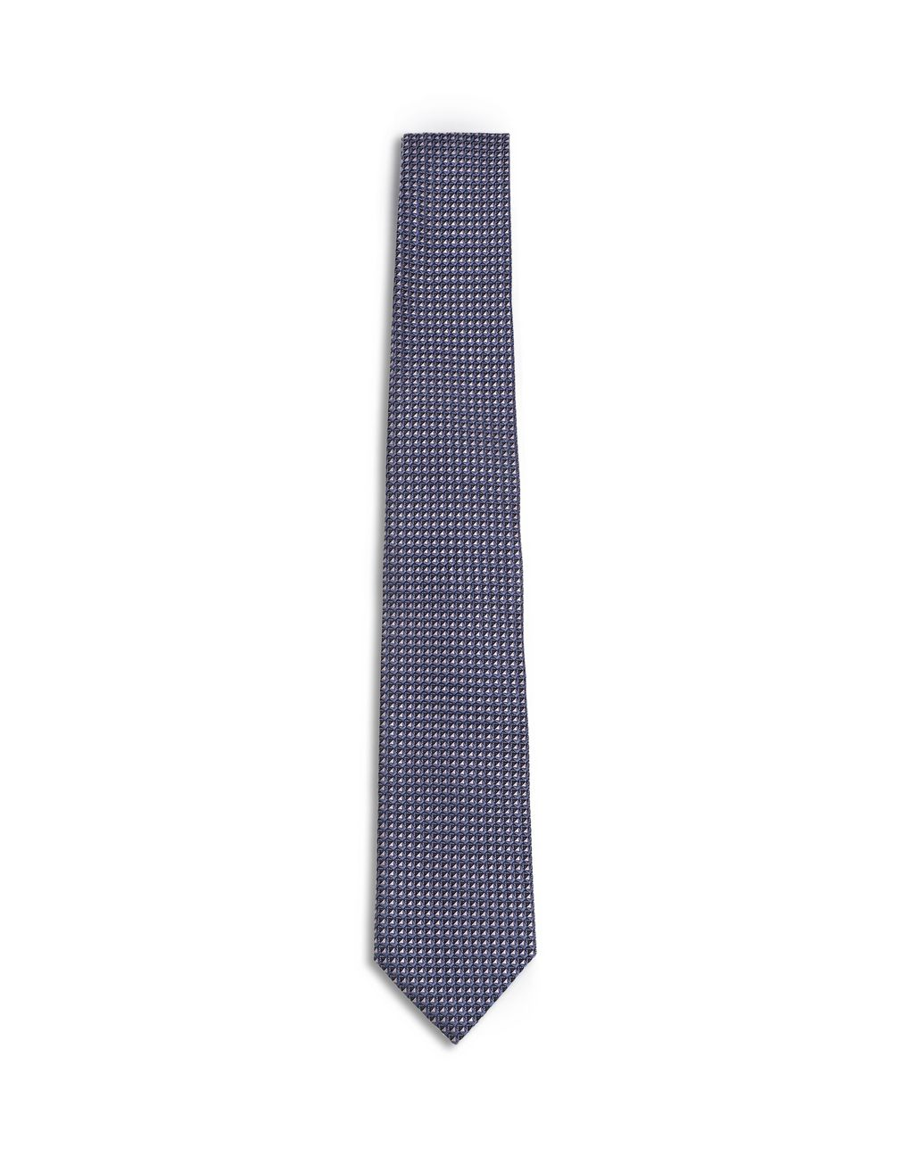 BRIONI Dark Purple and Navy Blue Micro Design Tie Tie [*** pickupInStoreShippingNotGuaranteed_info ***] f