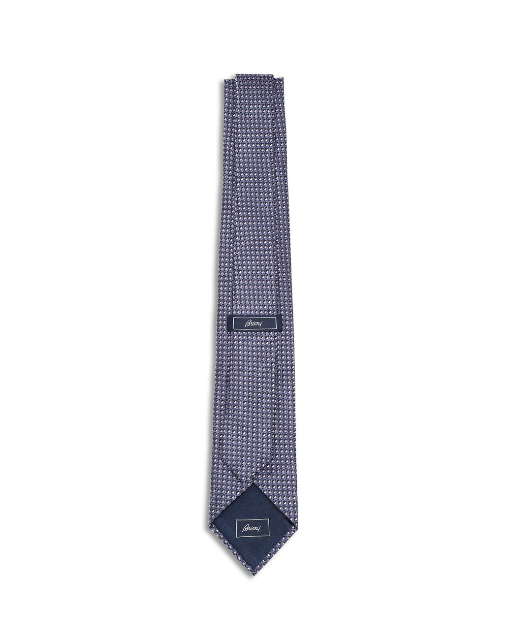BRIONI Dark Purple and Navy Blue Micro Design Tie Tie Man r