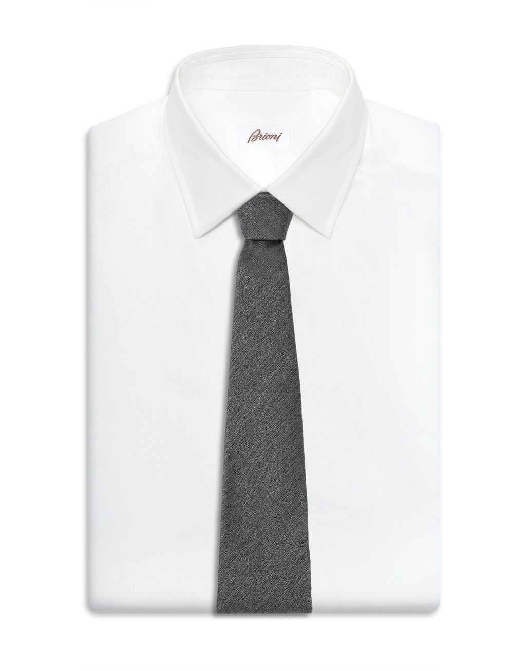 BRIONI Cravate gris graphite Cravate [*** pickupInStoreShippingNotGuaranteed_info ***] d