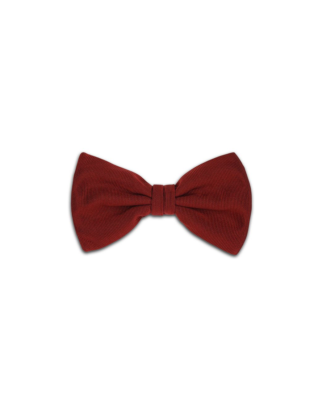 BRIONI Bordeaux Bow Tie Tie & Pocket Square Man f