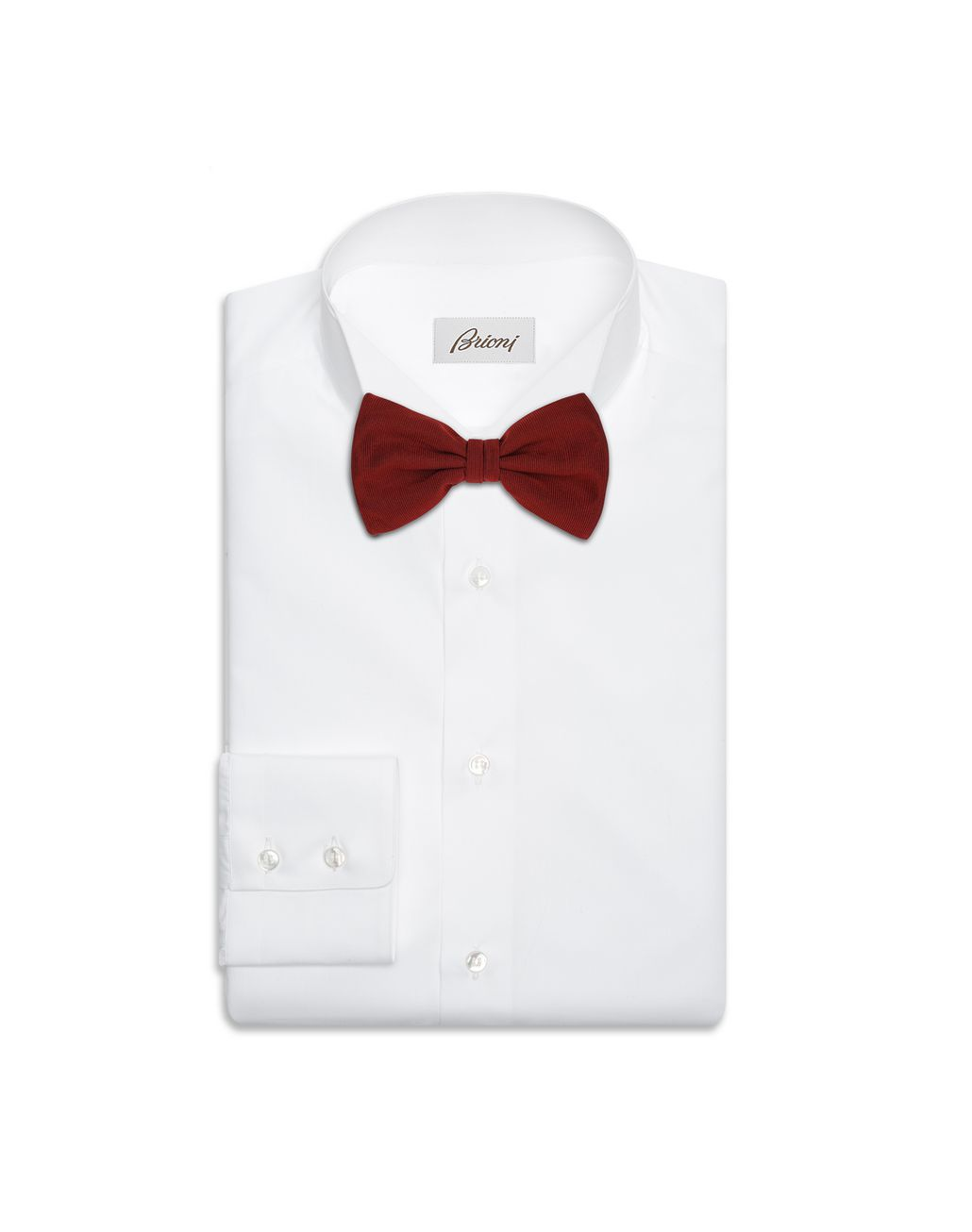 BRIONI Bordeaux Bow Tie Tie & Pocket Square Man r