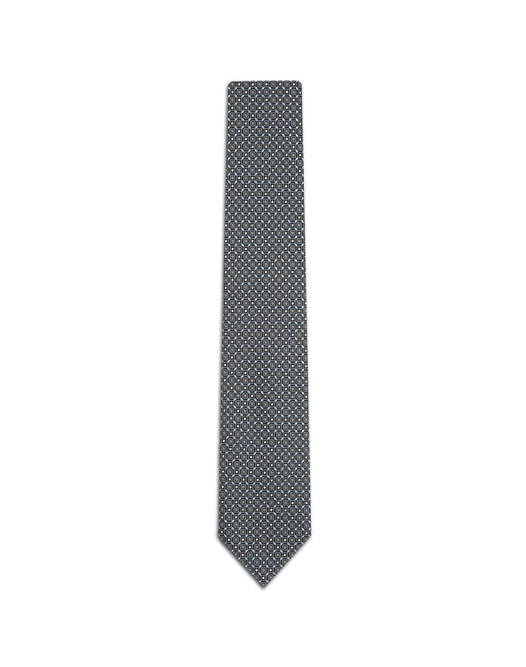 BRIONI Midnight Blue Medallion Tie Tie Man f