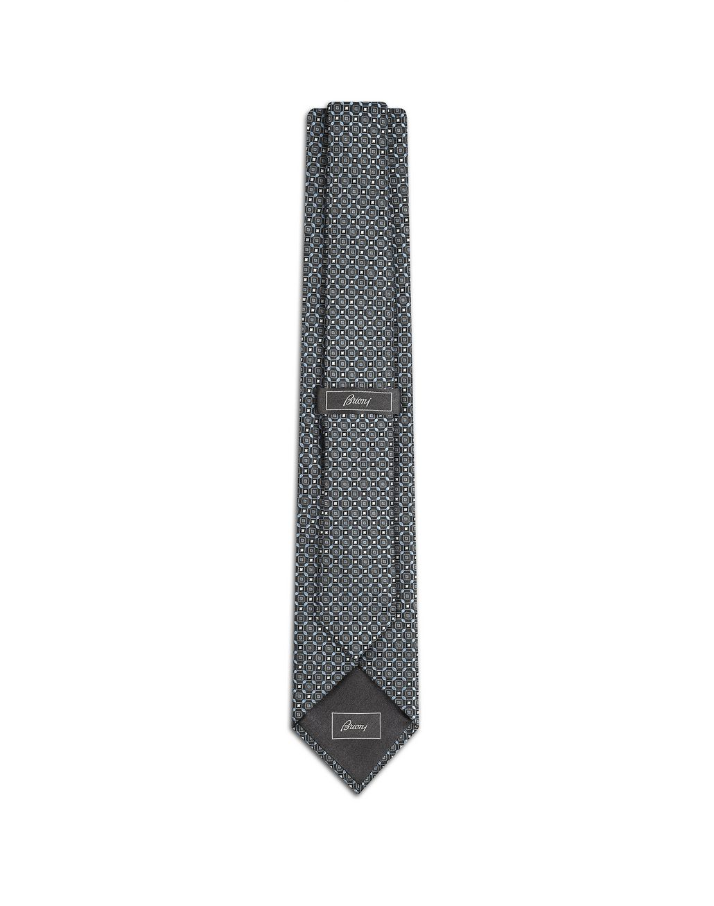 BRIONI Midnight Blue Medallion Tie Tie Man r
