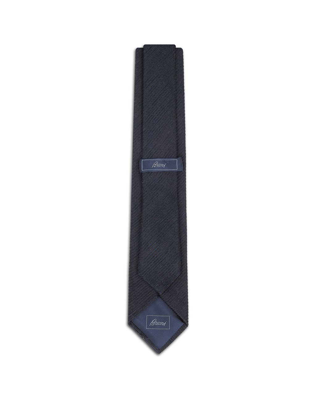 BRIONI Navy Blue Striped Tie Tie Man r