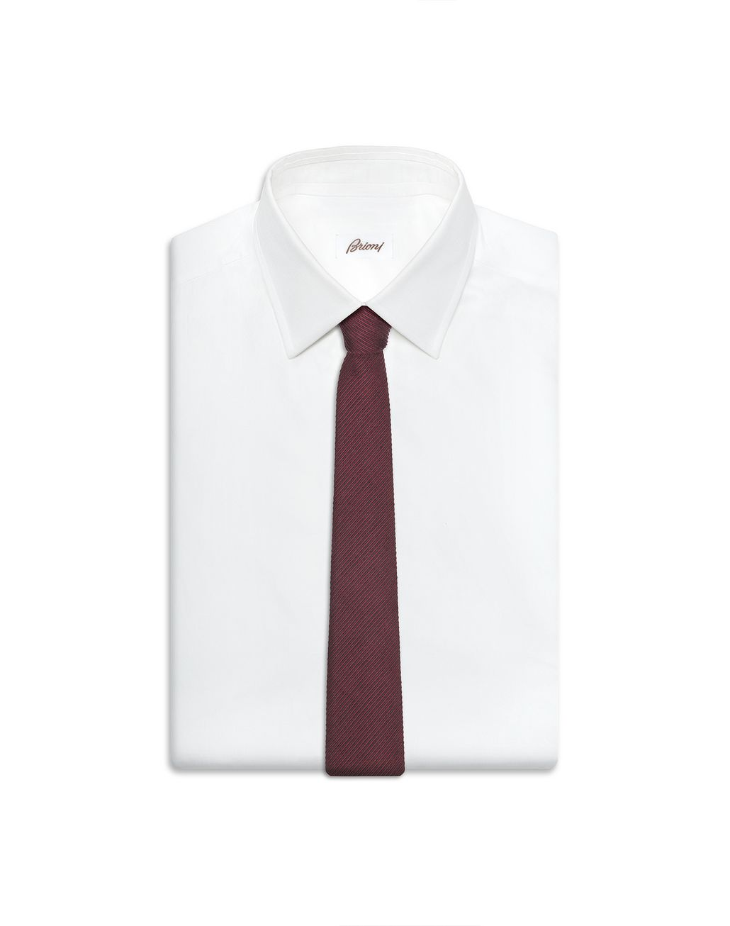 BRIONI Bordeaux Striped Tie Tie Man e