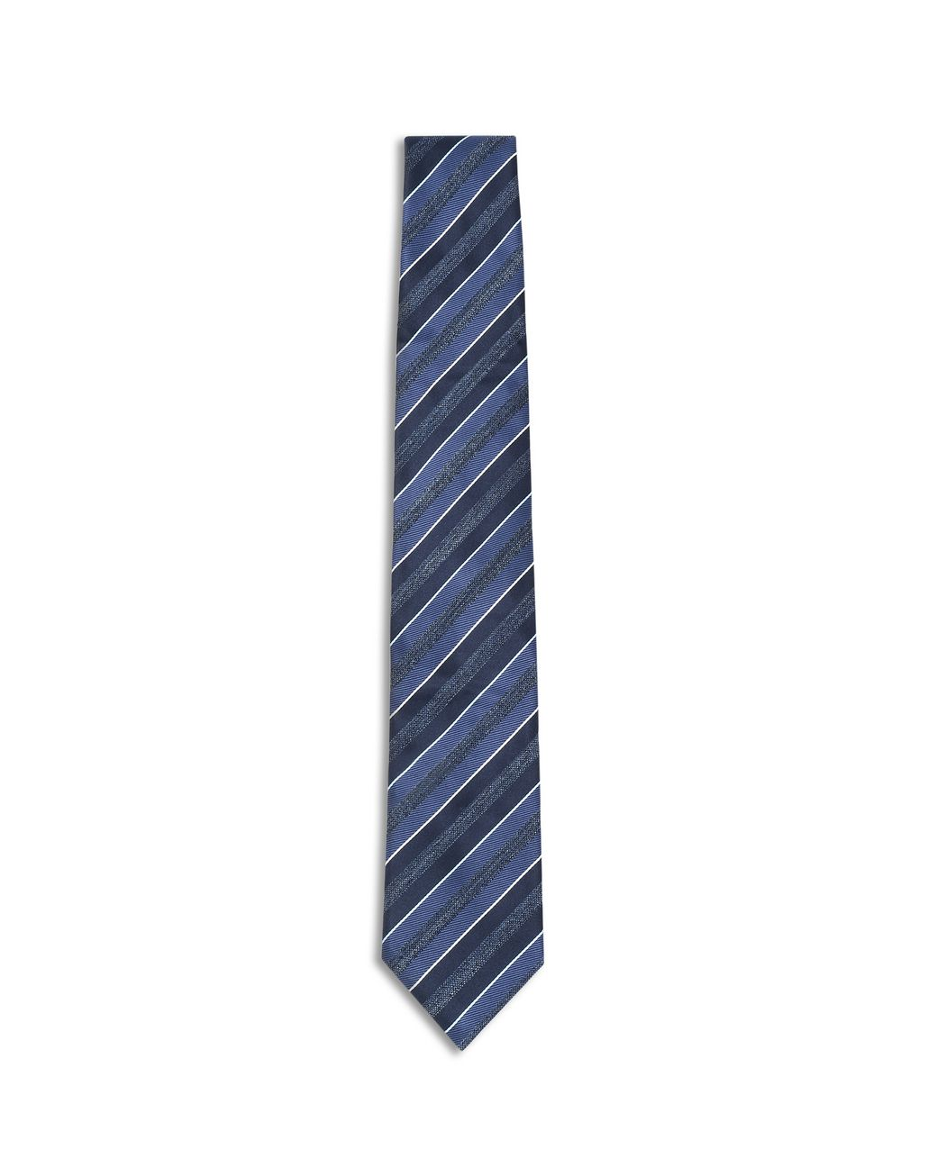 BRIONI Midnight Blue and Royal Blue Regimental Tie Tie Man f