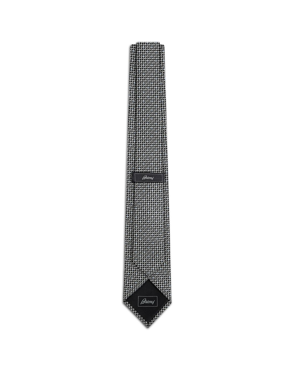 BRIONI Black and Flannel Designed Tie Tie Man r